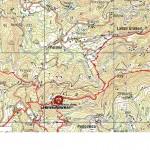 Lisca - planinski zemljevid